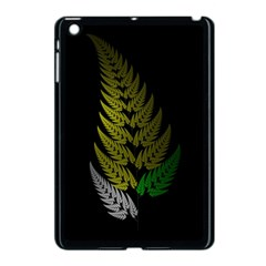 Drawing Of A Fractal Fern On Black Apple Ipad Mini Case (black) by Simbadda