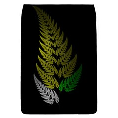Drawing Of A Fractal Fern On Black Flap Covers (s)  by Simbadda