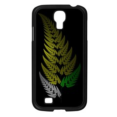 Drawing Of A Fractal Fern On Black Samsung Galaxy S4 I9500/ I9505 Case (black) by Simbadda