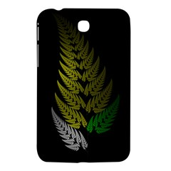 Drawing Of A Fractal Fern On Black Samsung Galaxy Tab 3 (7 ) P3200 Hardshell Case  by Simbadda
