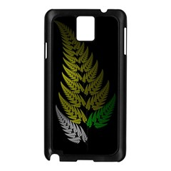 Drawing Of A Fractal Fern On Black Samsung Galaxy Note 3 N9005 Case (black) by Simbadda