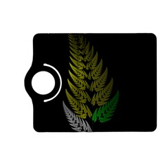 Drawing Of A Fractal Fern On Black Kindle Fire Hd (2013) Flip 360 Case by Simbadda