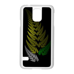 Drawing Of A Fractal Fern On Black Samsung Galaxy S5 Case (white) by Simbadda