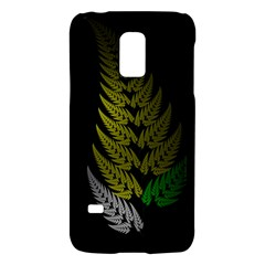 Drawing Of A Fractal Fern On Black Galaxy S5 Mini by Simbadda