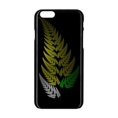 Drawing Of A Fractal Fern On Black Apple Iphone 6/6s Black Enamel Case by Simbadda