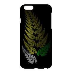 Drawing Of A Fractal Fern On Black Apple Iphone 6 Plus/6s Plus Hardshell Case by Simbadda
