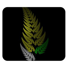 Drawing Of A Fractal Fern On Black Double Sided Flano Blanket (small)  by Simbadda