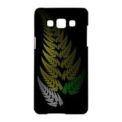 Drawing Of A Fractal Fern On Black Samsung Galaxy A5 Hardshell Case  by Simbadda