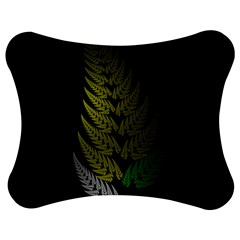 Drawing Of A Fractal Fern On Black Jigsaw Puzzle Photo Stand (bow) by Simbadda