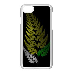 Drawing Of A Fractal Fern On Black Apple Iphone 7 Seamless Case (white) by Simbadda
