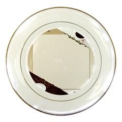 Greeting Card Coffee Mood Porcelain Plates by Simbadda