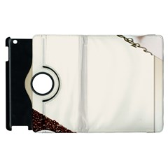 Greeting Card Coffee Mood Apple Ipad 2 Flip 360 Case by Simbadda