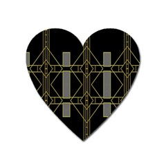 Simple Art Deco Style  Heart Magnet by Simbadda