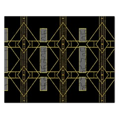 Simple Art Deco Style  Rectangular Jigsaw Puzzl by Simbadda