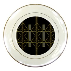 Simple Art Deco Style  Porcelain Plates by Simbadda