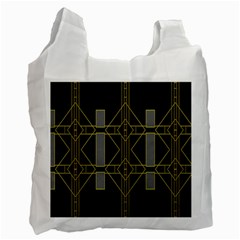 Simple Art Deco Style  Recycle Bag (one Side) by Simbadda