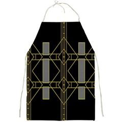 Simple Art Deco Style  Full Print Aprons by Simbadda