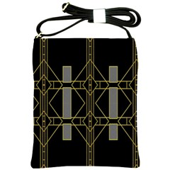 Simple Art Deco Style  Shoulder Sling Bags by Simbadda