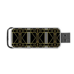 Simple Art Deco Style  Portable Usb Flash (one Side) by Simbadda