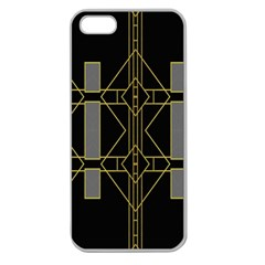 Simple Art Deco Style  Apple Seamless Iphone 5 Case (clear) by Simbadda