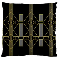 Simple Art Deco Style  Large Flano Cushion Case (two Sides) by Simbadda