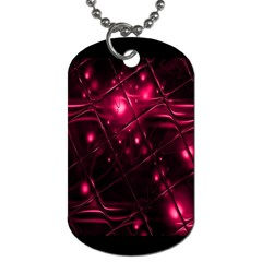 Picture Of Love In Magenta Declaration Of Love Dog Tag (two Sides) by Simbadda