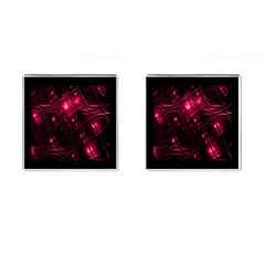 Picture Of Love In Magenta Declaration Of Love Cufflinks (square) by Simbadda