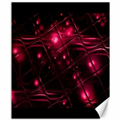 Picture Of Love In Magenta Declaration Of Love Canvas 8  X 10  by Simbadda