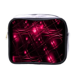 Picture Of Love In Magenta Declaration Of Love Mini Toiletries Bags by Simbadda