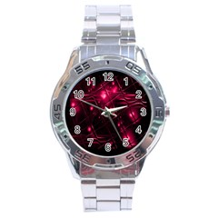 Picture Of Love In Magenta Declaration Of Love Stainless Steel Analogue Watch by Simbadda