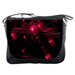 Picture Of Love In Magenta Declaration Of Love Messenger Bags by Simbadda