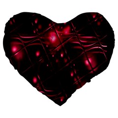 Picture Of Love In Magenta Declaration Of Love Large 19  Premium Heart Shape Cushions by Simbadda