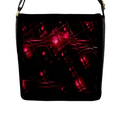 Picture Of Love In Magenta Declaration Of Love Flap Messenger Bag (l)  by Simbadda