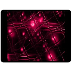 Picture Of Love In Magenta Declaration Of Love Double Sided Fleece Blanket (large)  by Simbadda