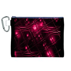 Picture Of Love In Magenta Declaration Of Love Canvas Cosmetic Bag (xl) by Simbadda