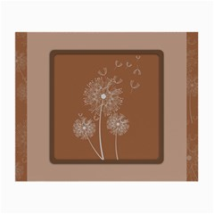 Dandelion Frame Card Template For Scrapbooking Small Glasses Cloth by Simbadda