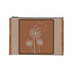 Dandelion Frame Card Template For Scrapbooking Cosmetic Bag (large)  by Simbadda