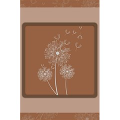 Dandelion Frame Card Template For Scrapbooking 5.5  x 8.5  Notebooks by Simbadda