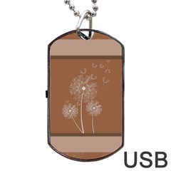 Dandelion Frame Card Template For Scrapbooking Dog Tag Usb Flash (two Sides) by Simbadda