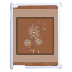 Dandelion Frame Card Template For Scrapbooking Apple Ipad 2 Case (white) by Simbadda