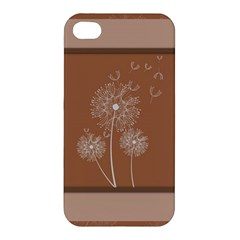 Dandelion Frame Card Template For Scrapbooking Apple Iphone 4/4s Premium Hardshell Case by Simbadda