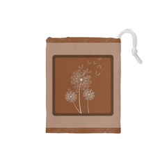 Dandelion Frame Card Template For Scrapbooking Drawstring Pouches (small)  by Simbadda