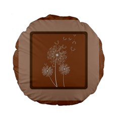 Dandelion Frame Card Template For Scrapbooking Standard 15  Premium Flano Round Cushions by Simbadda