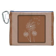 Dandelion Frame Card Template For Scrapbooking Canvas Cosmetic Bag (xxl) by Simbadda