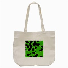 Black Green Abstract Shapes A Completely Seamless Tile Able Background Tote Bag (cream) by Simbadda