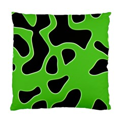 Black Green Abstract Shapes A Completely Seamless Tile Able Background Standard Cushion Case (one Side) by Simbadda