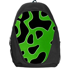 Black Green Abstract Shapes A Completely Seamless Tile Able Background Backpack Bag by Simbadda