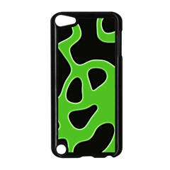Black Green Abstract Shapes A Completely Seamless Tile Able Background Apple Ipod Touch 5 Case (black) by Simbadda