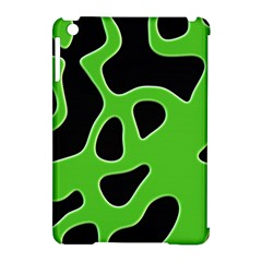Black Green Abstract Shapes A Completely Seamless Tile Able Background Apple Ipad Mini Hardshell Case (compatible With Smart Cover) by Simbadda