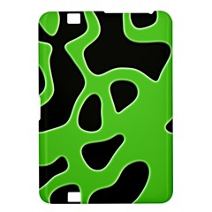 Black Green Abstract Shapes A Completely Seamless Tile Able Background Kindle Fire Hd 8 9  by Simbadda